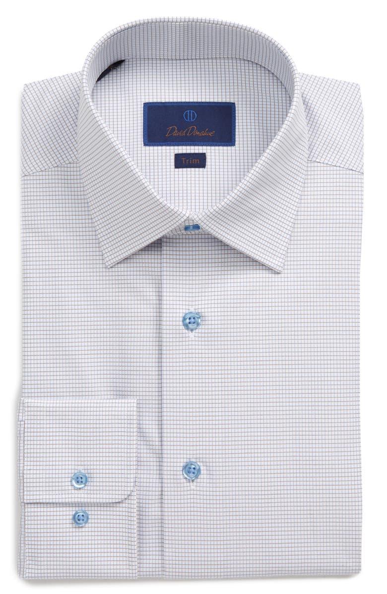 DAVID DONAHUE Trim Fit Check Dress Shirt, Main, color, 400