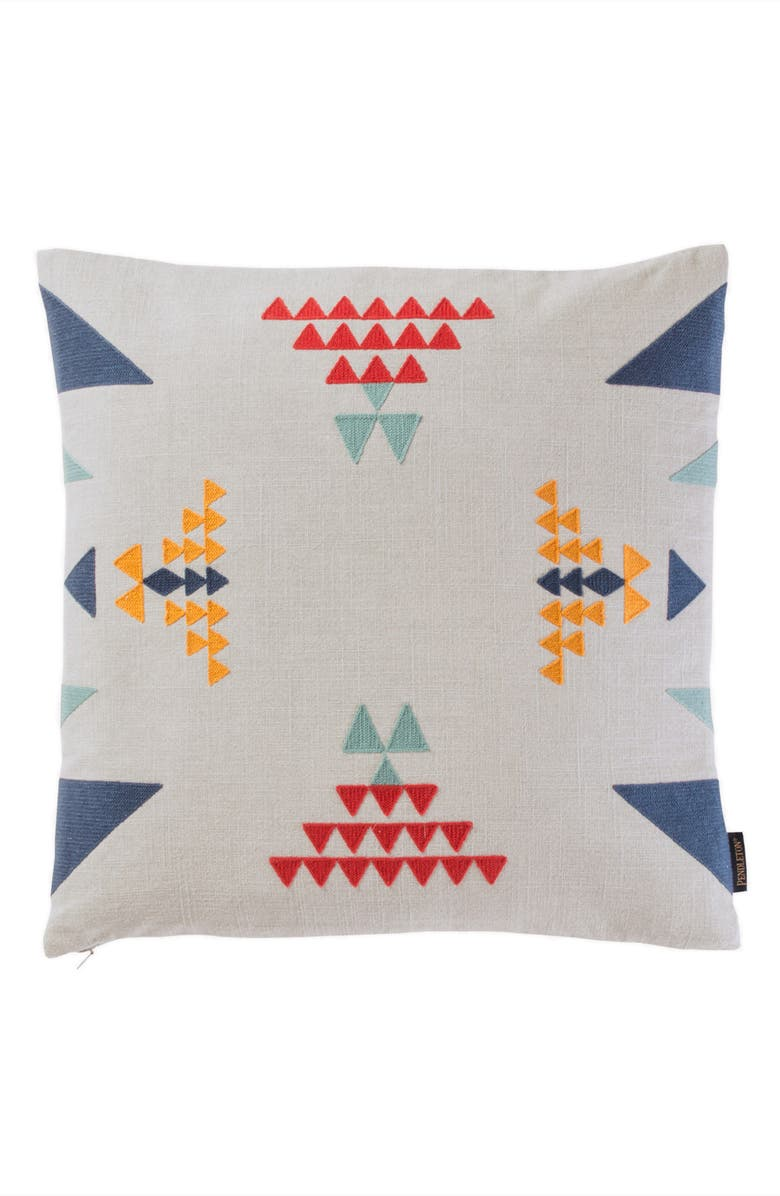 PENDLETON Point Reyes Crewel Embroidered Accent Pillow, Main, color, 020