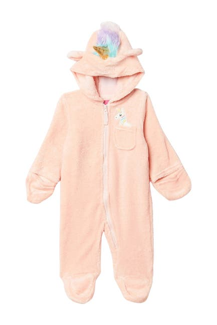 Image of Wippette Soft Faux Shearling Unicorn Footie