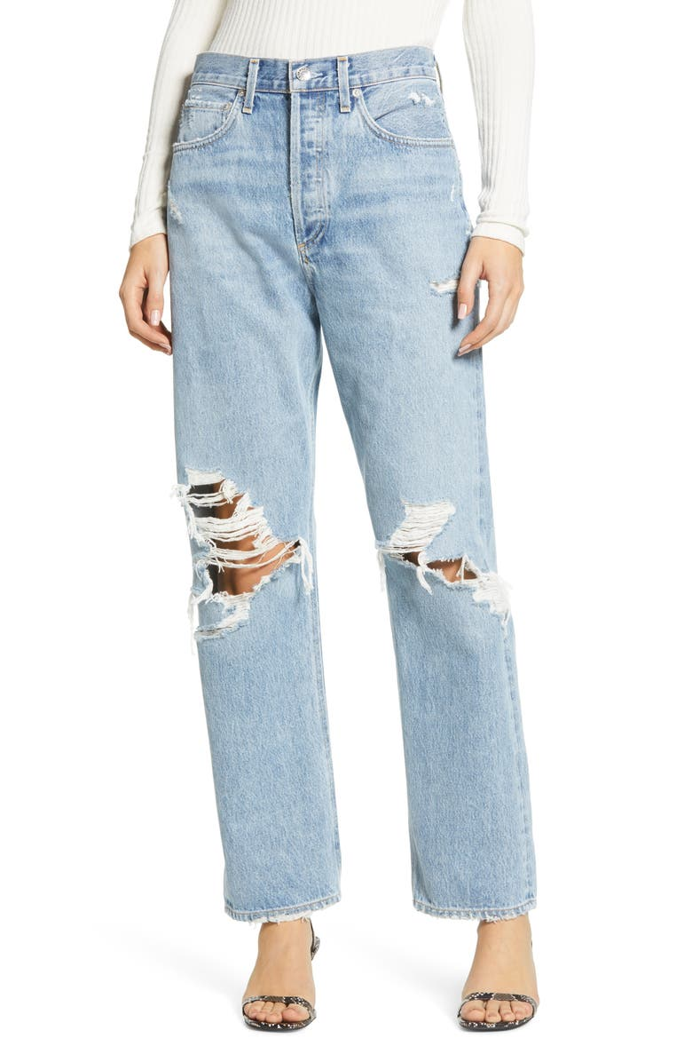 90s Ripped Loose Fit Jeans | Nordstrom