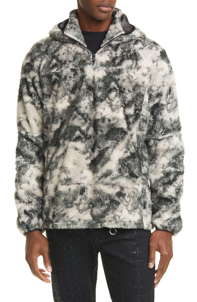 1017 ALYX 9SM Marco Polo Fleece Hooded Pullover, Main, color, BLACK CAMO