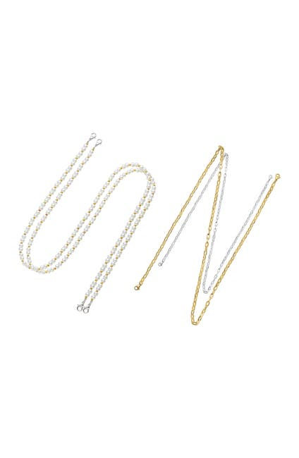 Image of POSH TECH Metallic and Pearl Mask Chain