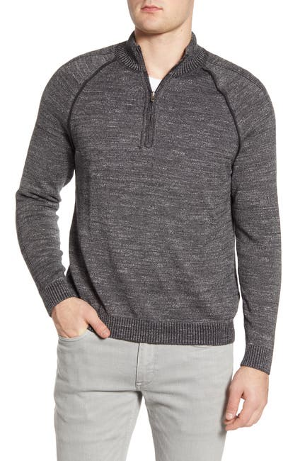 Image of Tommy Bahama Di Sabbia Reversible Half-Zip Sweater