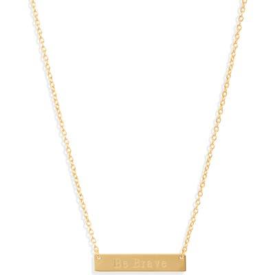Sterling Forever Be Brave Bar Pendant Necklace
