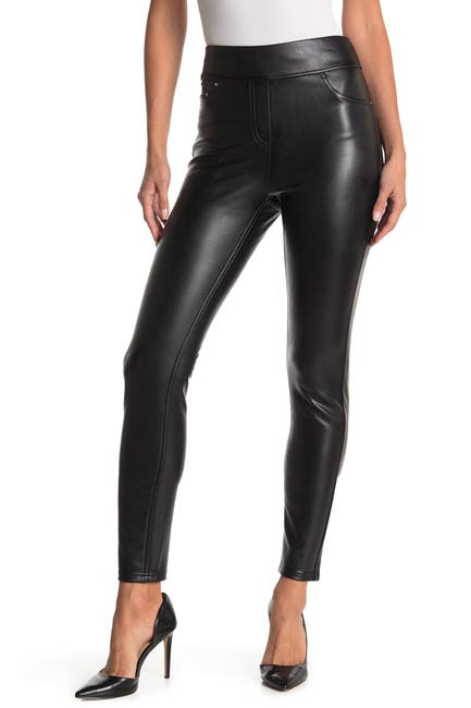 Image of Laundry By Shelli Segal Faux Leather Pull-On Leggings