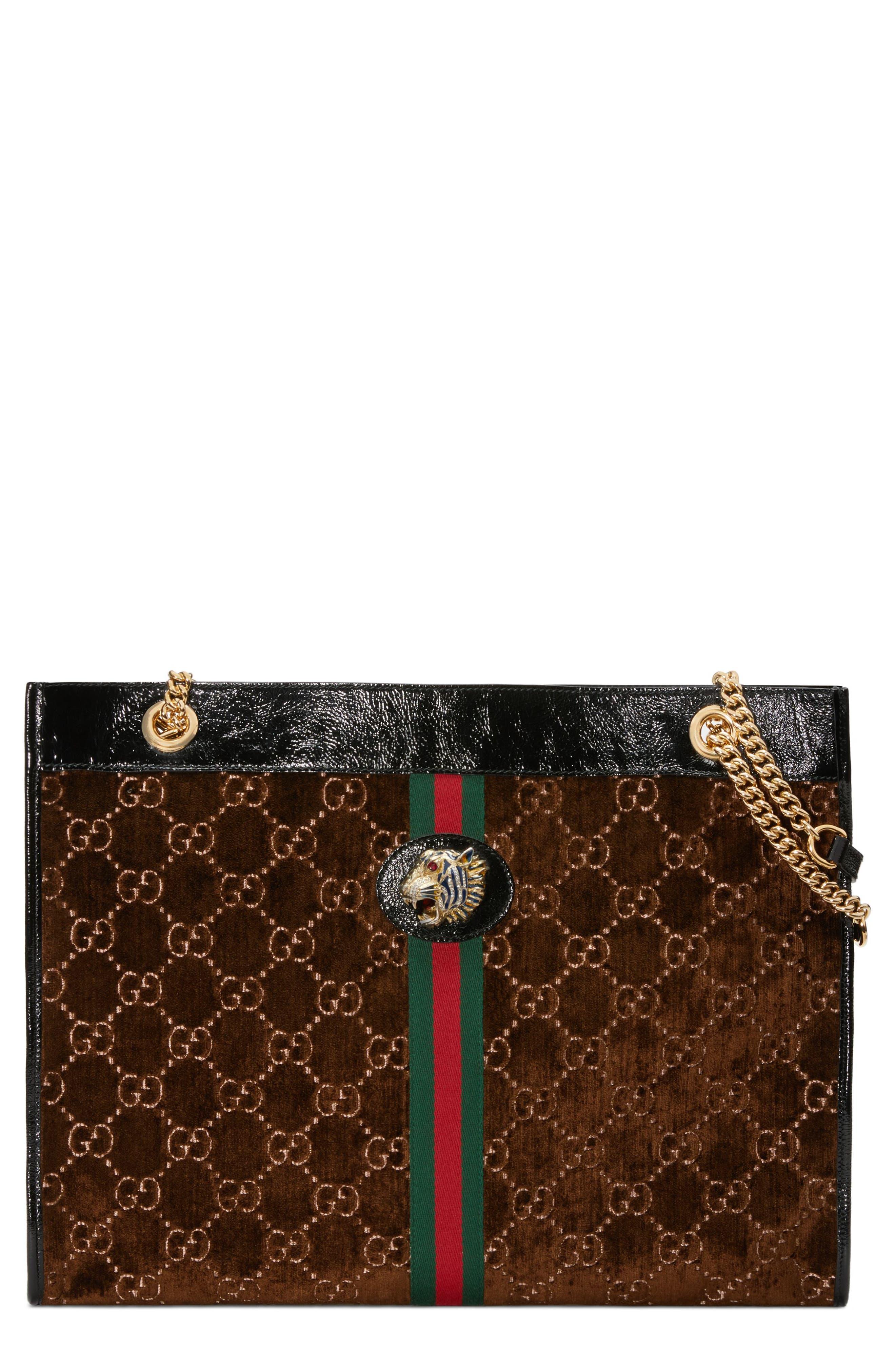 Gucci Large Linea Rajah GG Velvet Tote