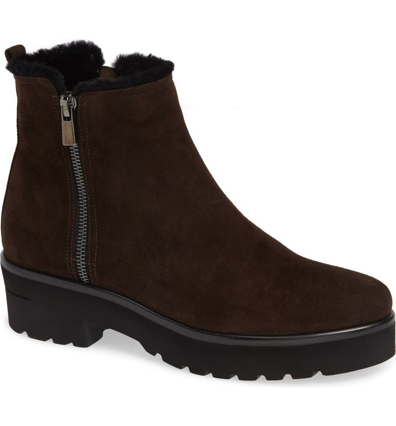 PAS DE ROUGE Nora Genuine Shearling Bootie, Main, color, 200