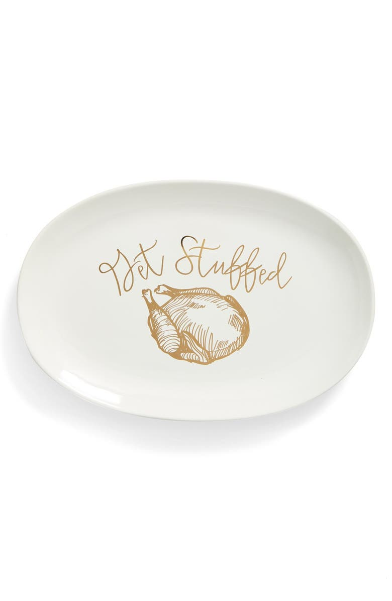 GIBSON 'Get Stuffed' Stoneware Serving Platter, Main, color, 100