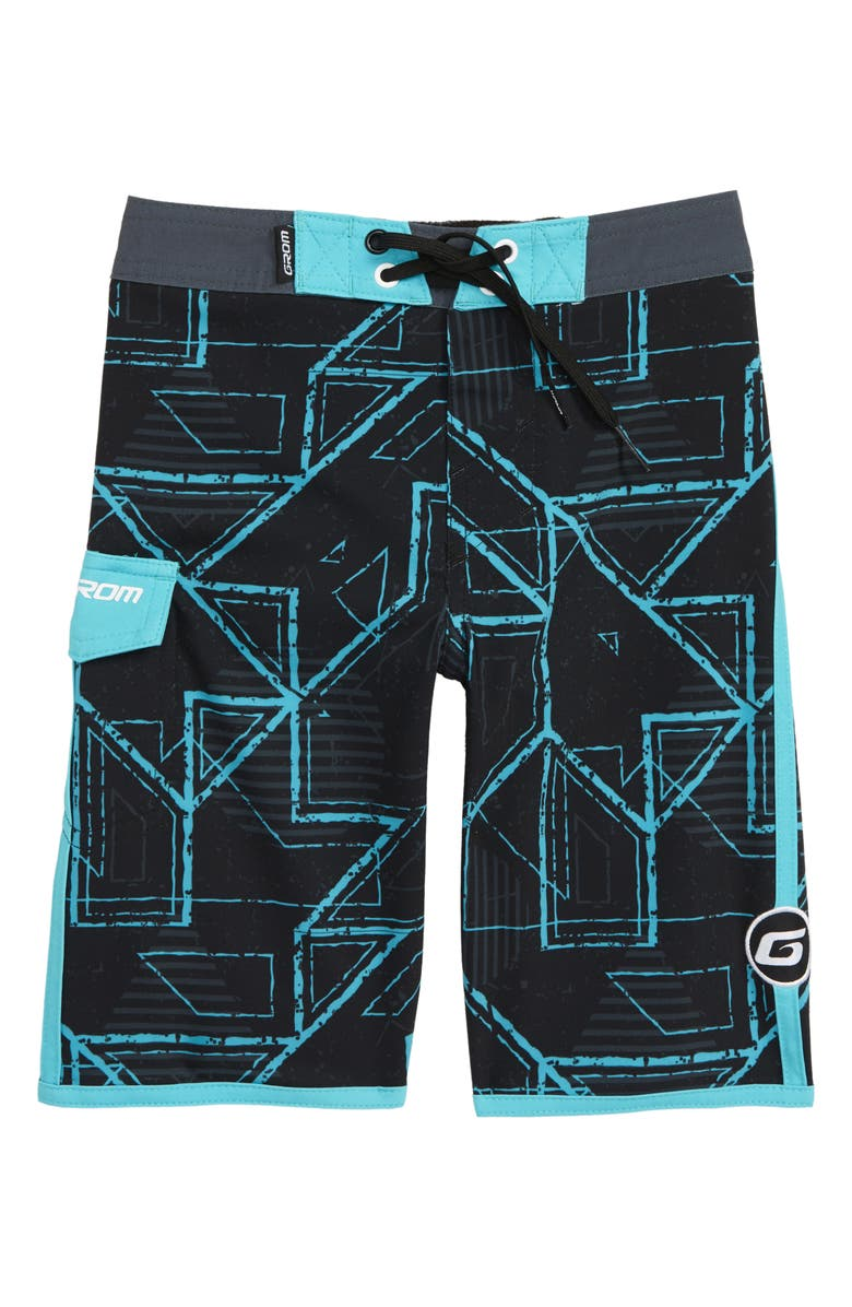GROM Circuit Board Shorts, Main, color, BLACK