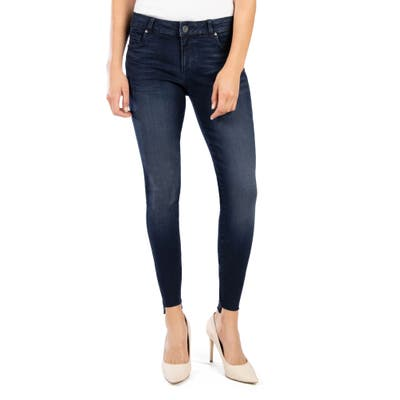 Kut From The Kloth Donna Step Hem Ankle Skinny Jeans, Blue