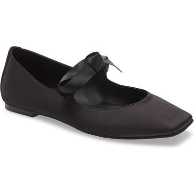 Jeffrey Campbell Amit Tie Ballet Flat, Black