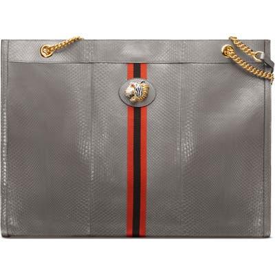 Gucci Maxi Linea Rajah Genuine Python Tote - Grey