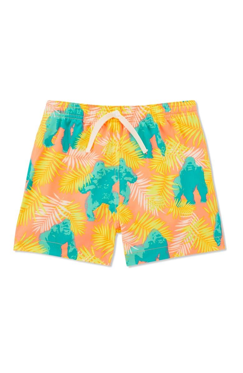 CHUBBIES The Rumble in the Jungle Swim Trunks, Main, color, ORANGE GORILLA