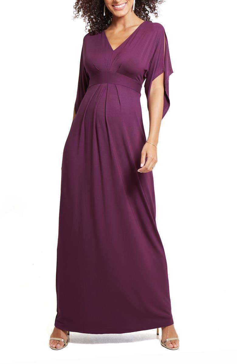 INGRID & ISABEL<SUP>®</SUP> Ingrid & Isabel Split Sleeve Maternity Maxi Dress, Main, color, 395