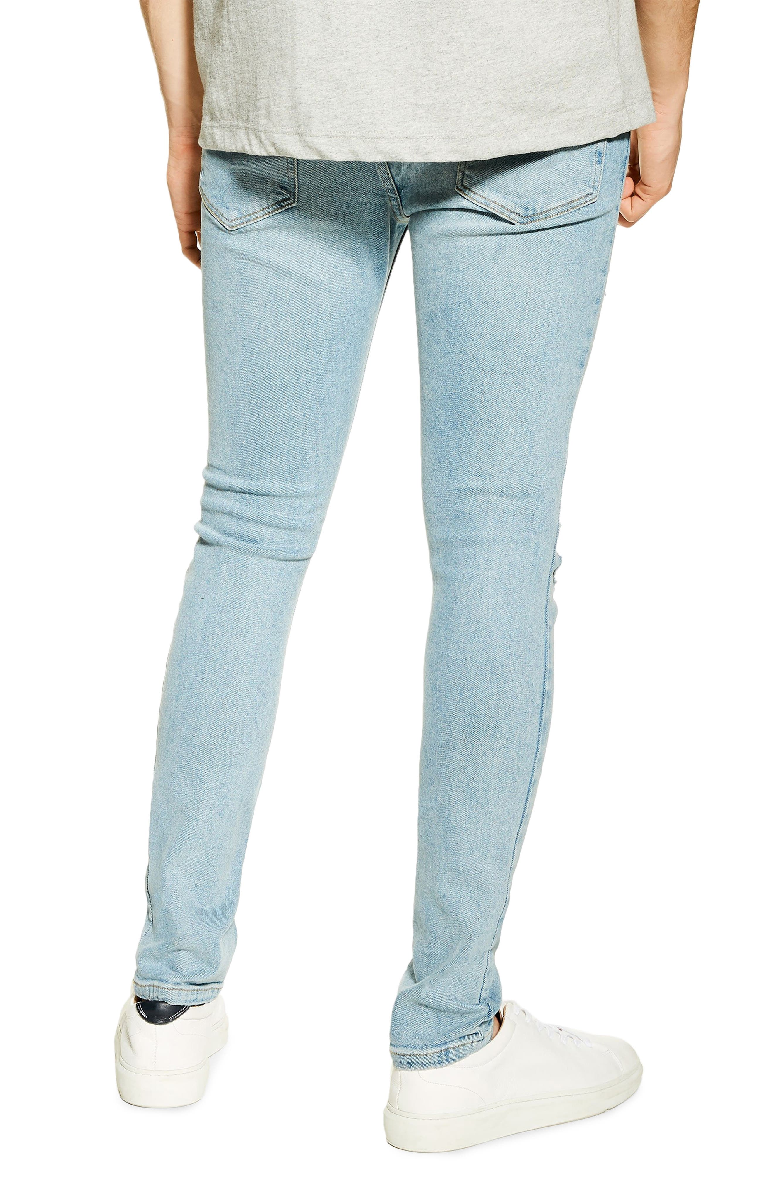 ,                             Ripped Stretch Skinny Fit Jeans,                             Alternate thumbnail 2, color,                             BLUE