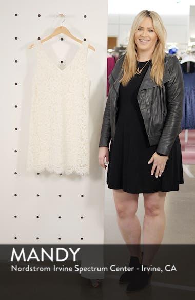 Sleeveless Lace Shift Dress, sales video thumbnail