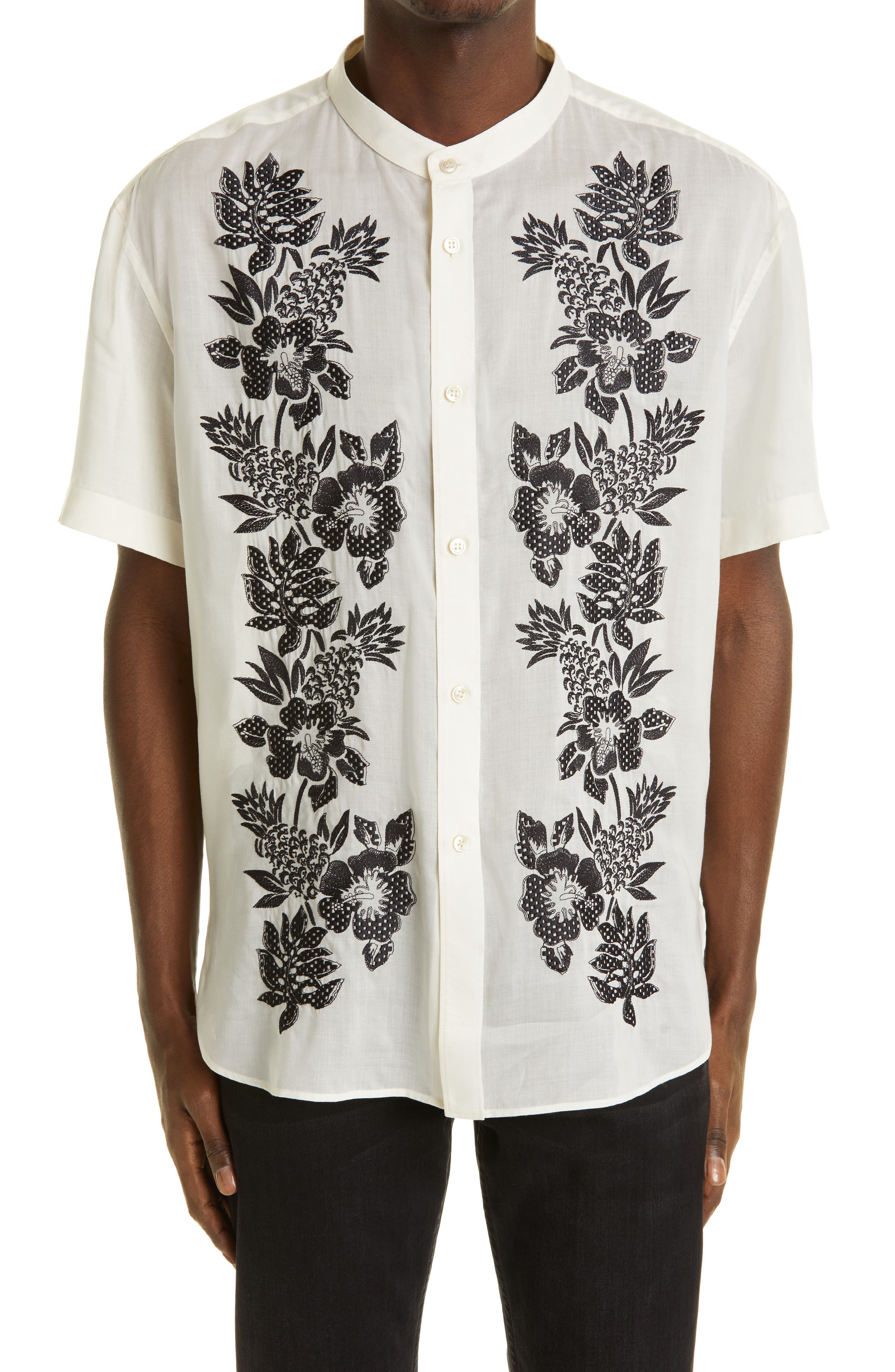 READY MADE Size 5 Native Blossoms Boxy Short Sleeve Top