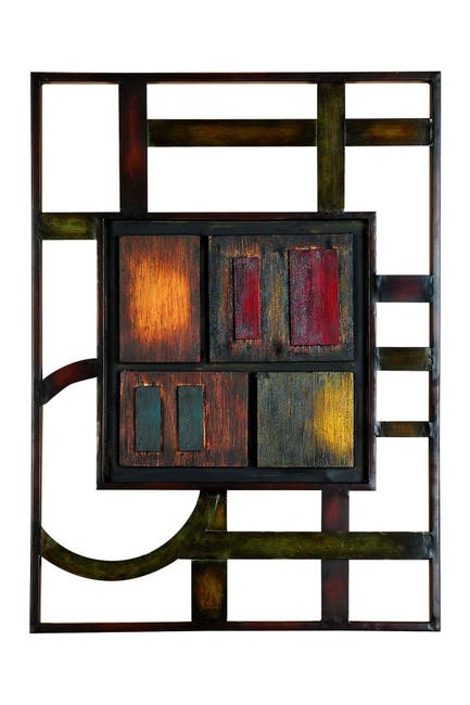 Image of Willow Row Multi Modern Abstract Geometric Wall Art