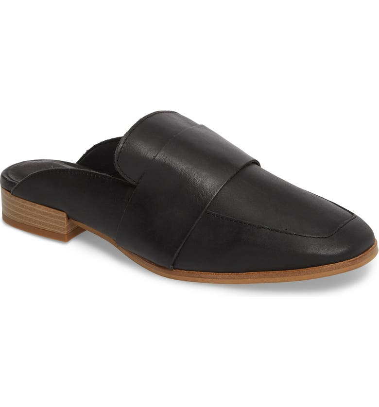 FREE PEOPLE At Ease Loafer Mule, Main, color, CARBON LEATHER