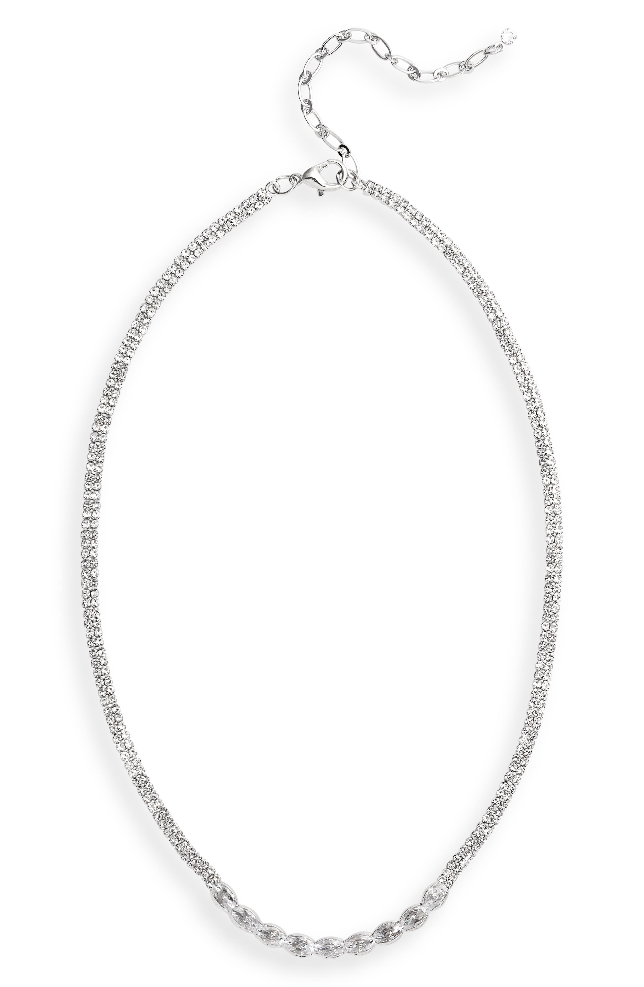 Round Stone Frontal Necklace