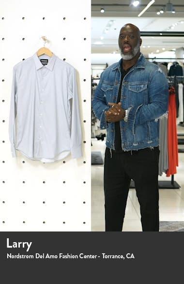 Slim Fit Print Stretch Button-Up Shirt, sales video thumbnail
