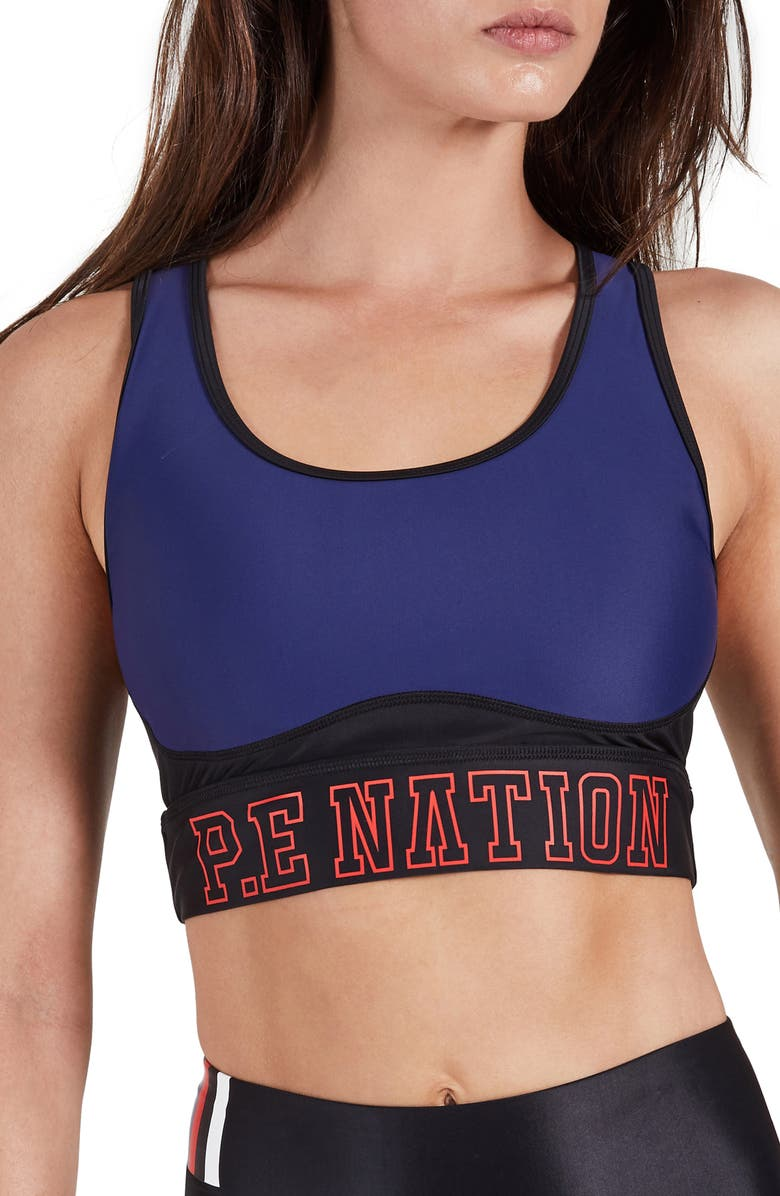 P.E NATION Discus Sports Bra, Main, color, 400