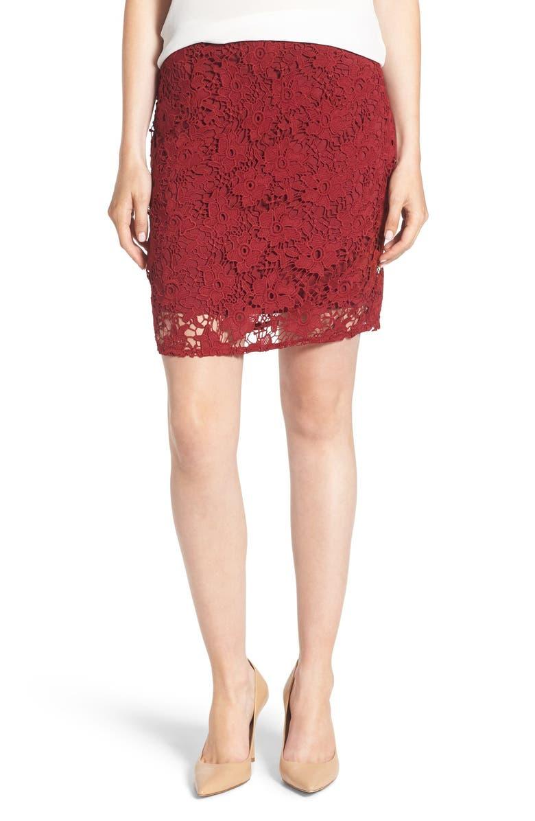 SANCTUARY Lace Skirt, Main, color, 601
