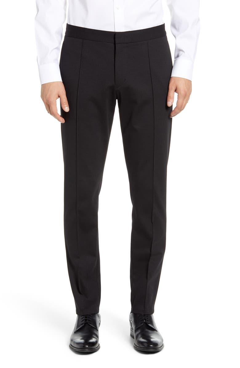 CALIBRATE Center Seam Slim Fit Pants, Main, color, BLACK