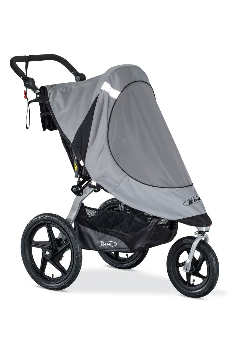 BOB Revolution Single Jogging Stroller Sun Shield, Main, color, BLACK