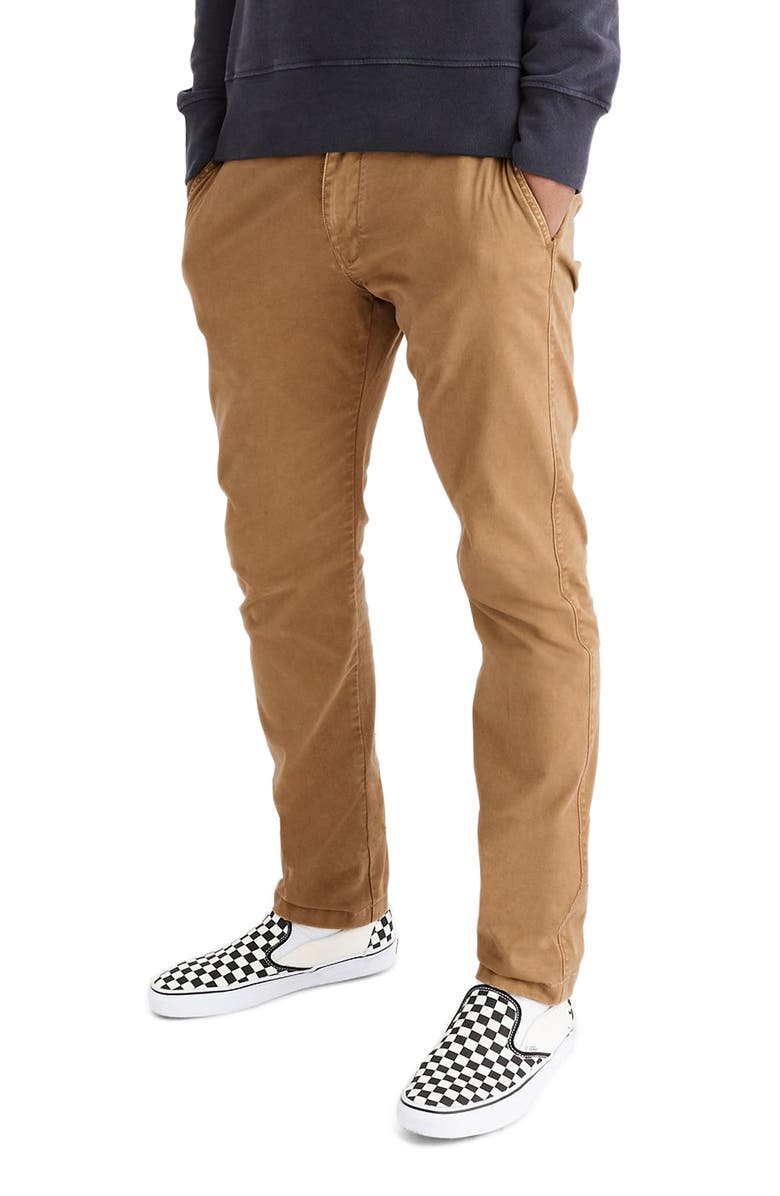MADEWELL Penn Slim Fit Chino Pants, Main, color, CASTLE BROWN