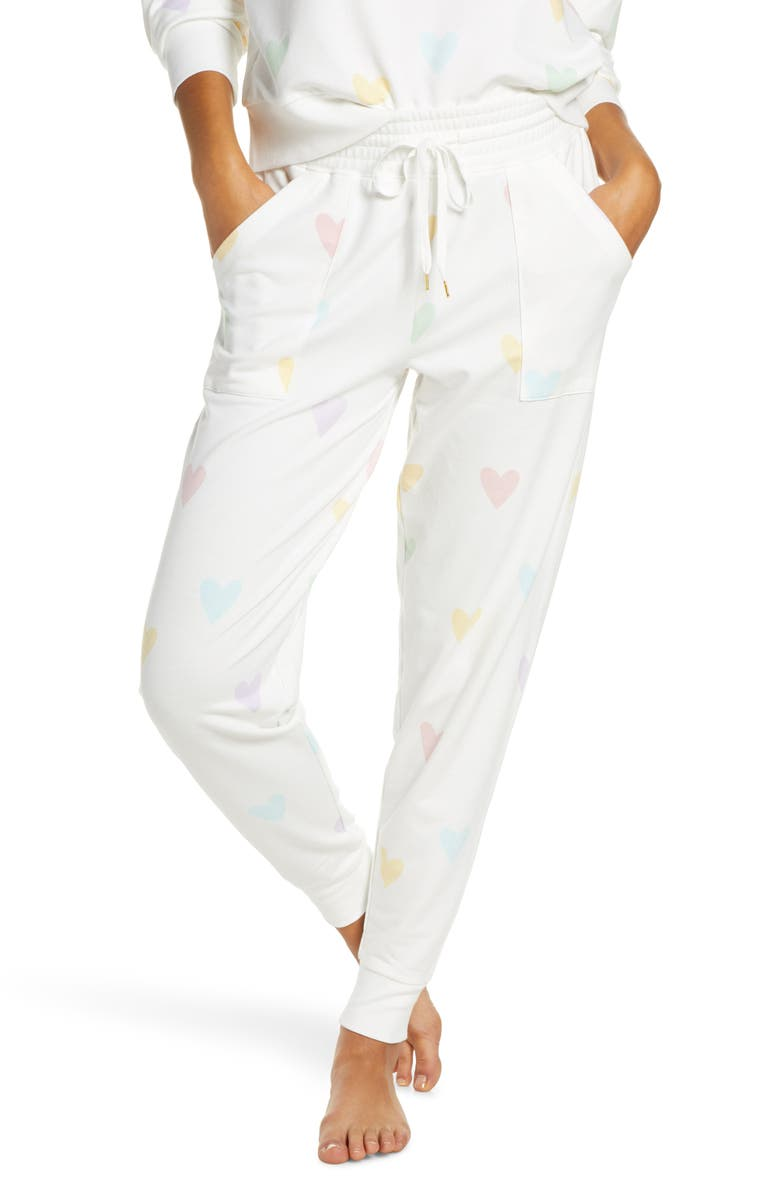 HONEYDEW INTIMATES Summer Lover Lounge Jogger Pants, Main, color, HEARTS