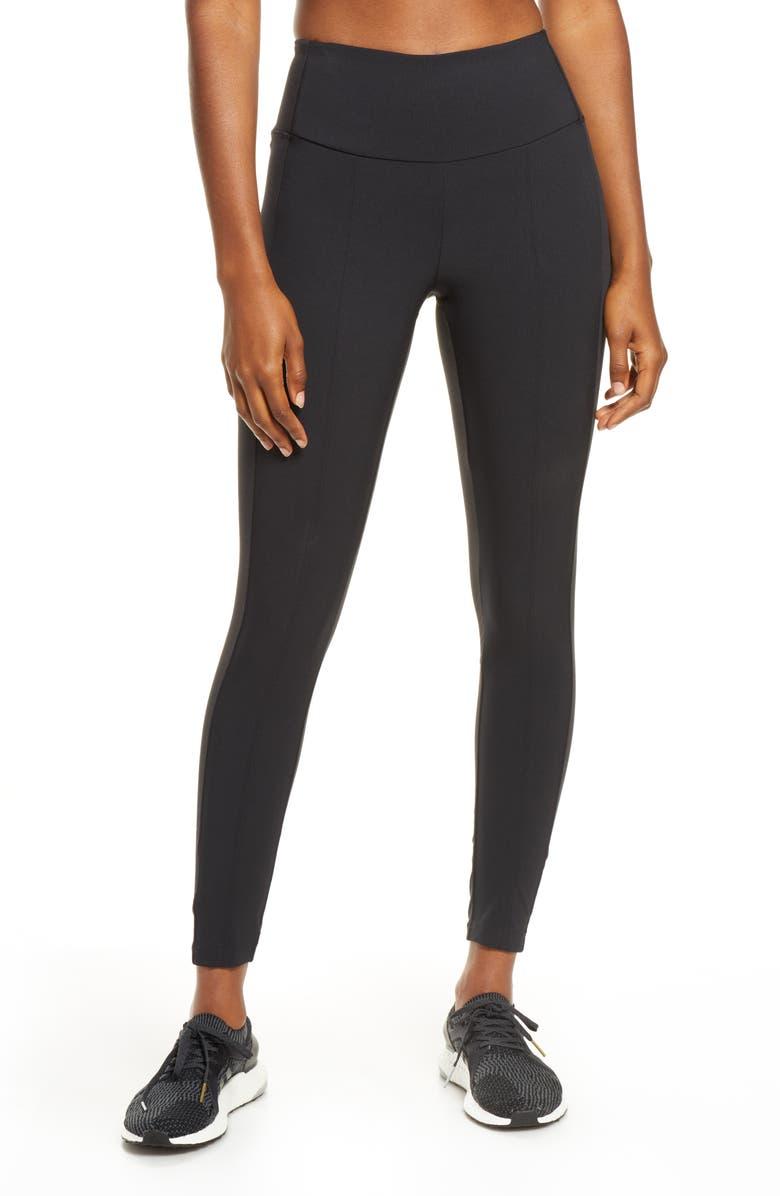 ZELLA Urban Hybrid Leggings, Main, color, BLACK
