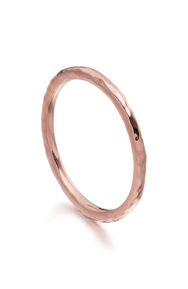 MONICA VINADER Siren Hammered Ring, Main, color, ROSE GOLD