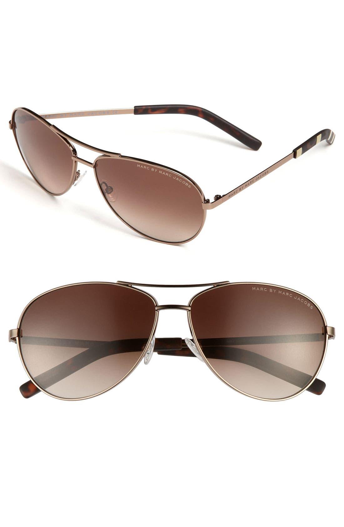 ,                             59mm Aviator Sunglasses,                             Main thumbnail 2, color,                             201