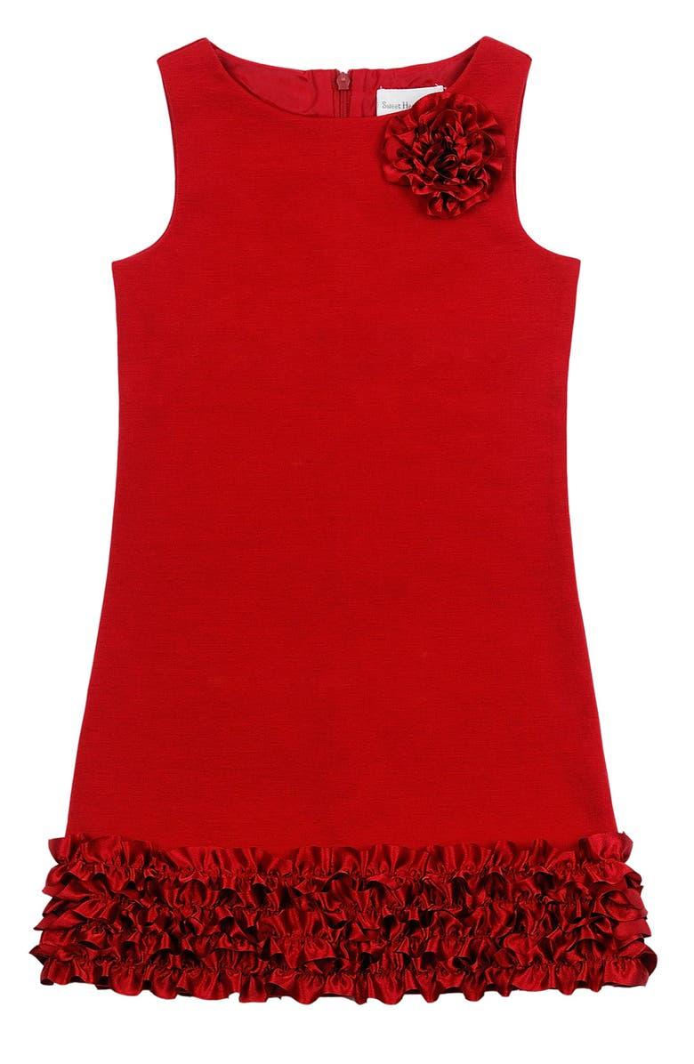 SWEET HEART ROSE Ponte Knit Shift Dress, Main, color, 600