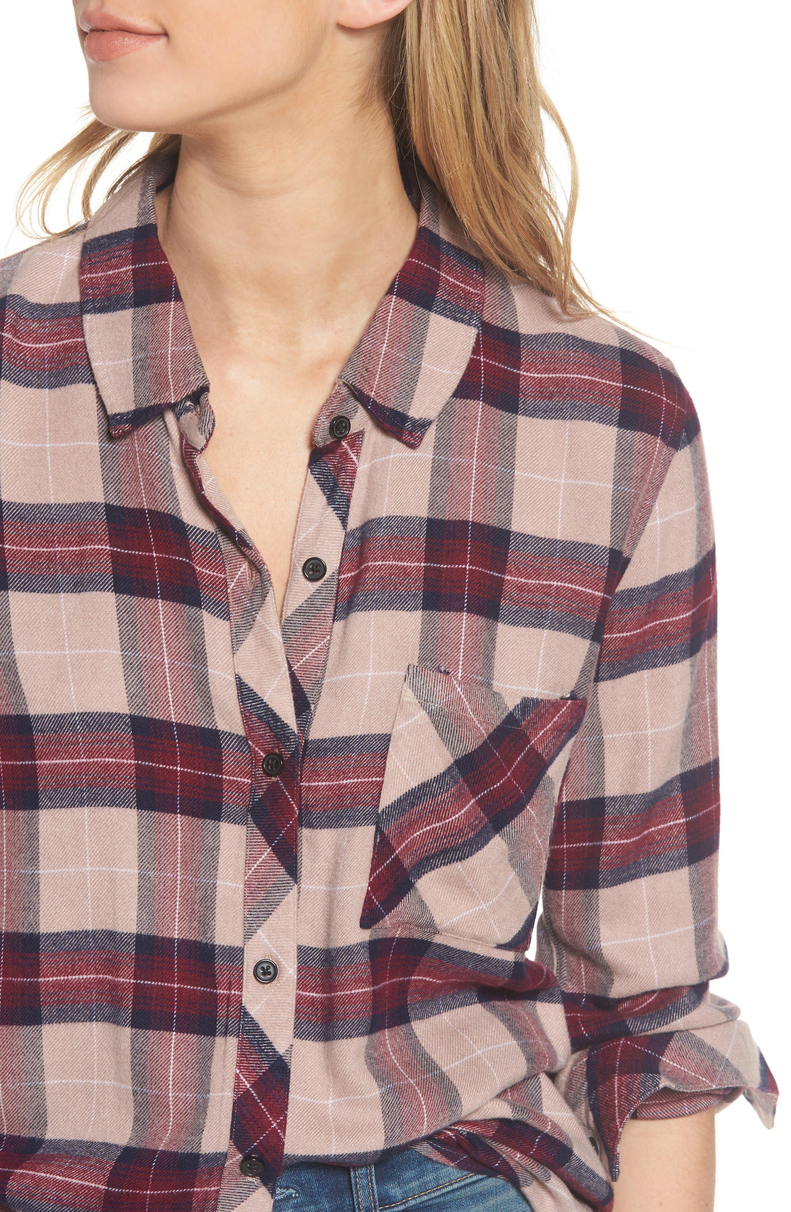 ,                             Hunter Plaid Shirt,                             Alternate thumbnail 705, color,                             294
