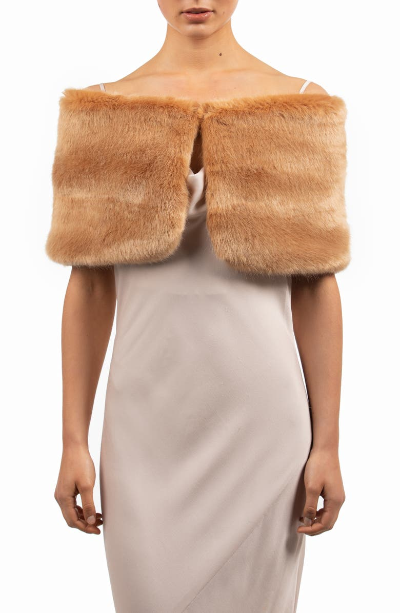 BÜBISH Sofia Faux Fur Shrug, Main, color, 200
