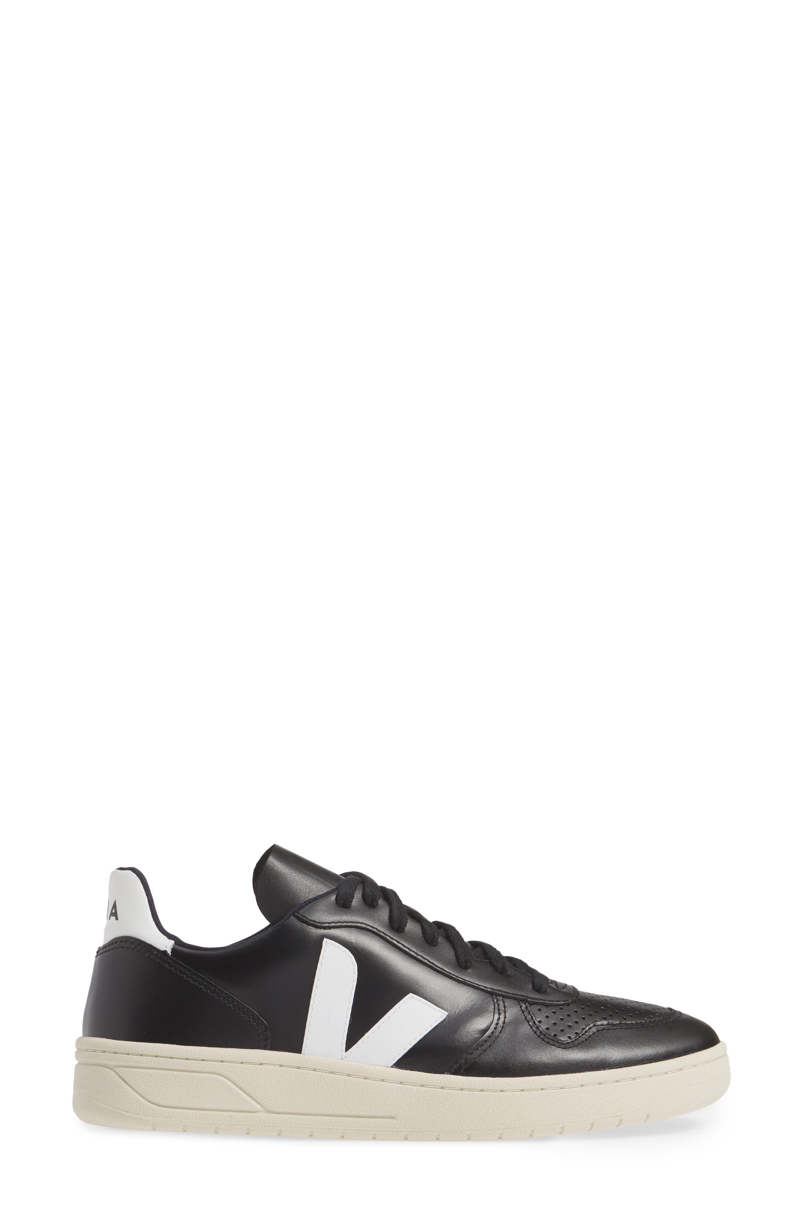 ,                             V-10 Sneaker,                             Alternate thumbnail 3, color,                             BLACK WHITE
