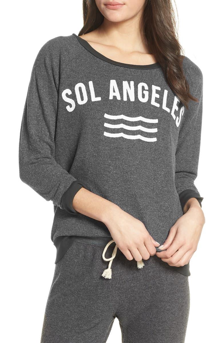 SOL ANGELES New Arc Hacci Pullover, Main, color, V BLACK