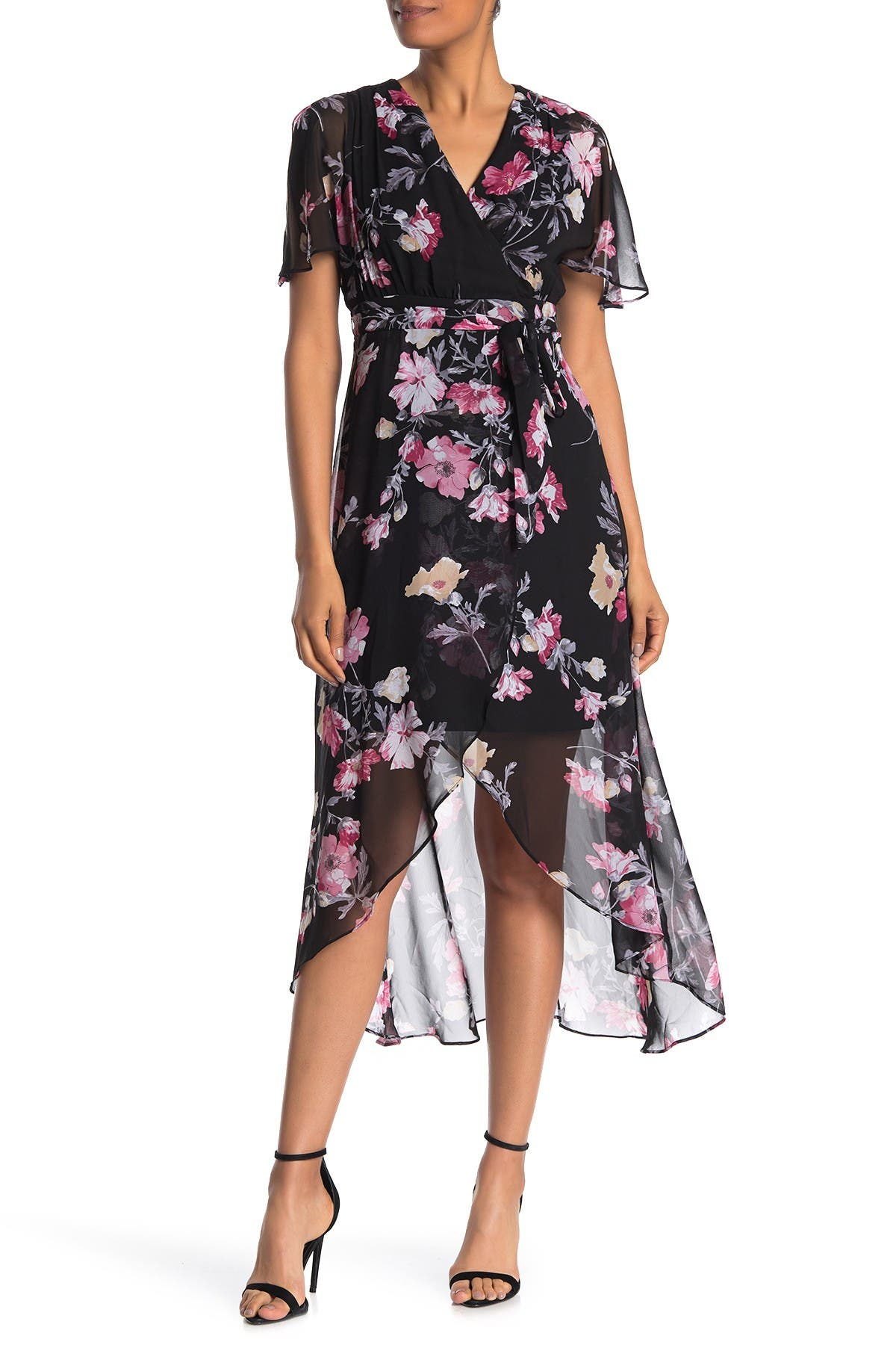 Image of Eliza J High/Low Floral Print Dress