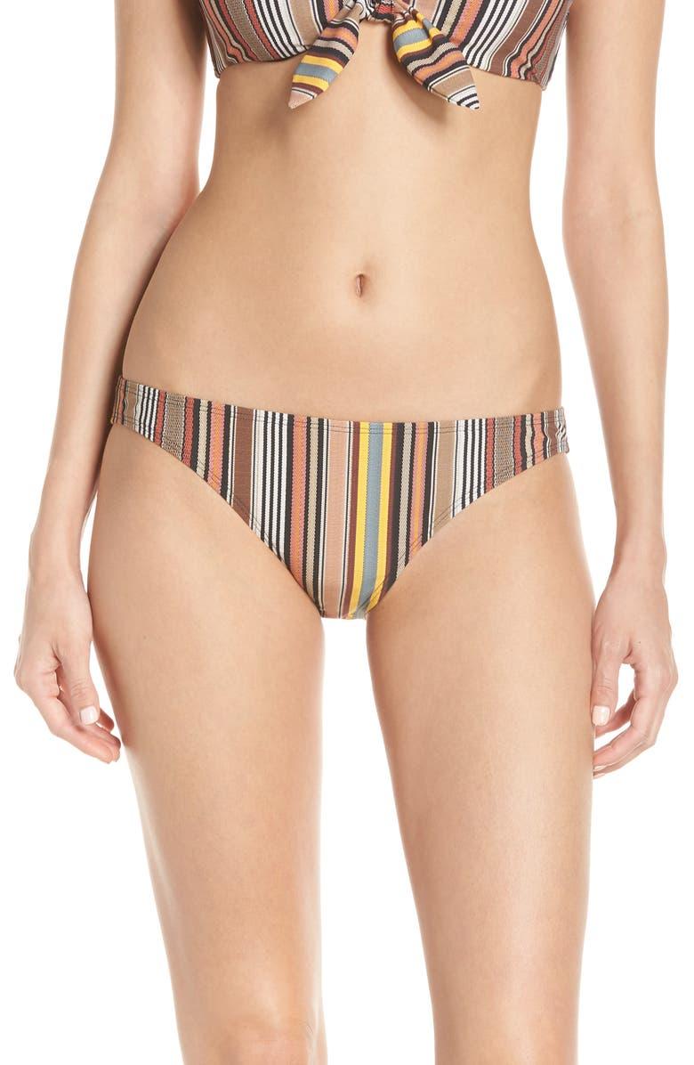 TORY BURCH Stripe Hipster Bikini Bottoms, Main, color, WEBBING STRIPE