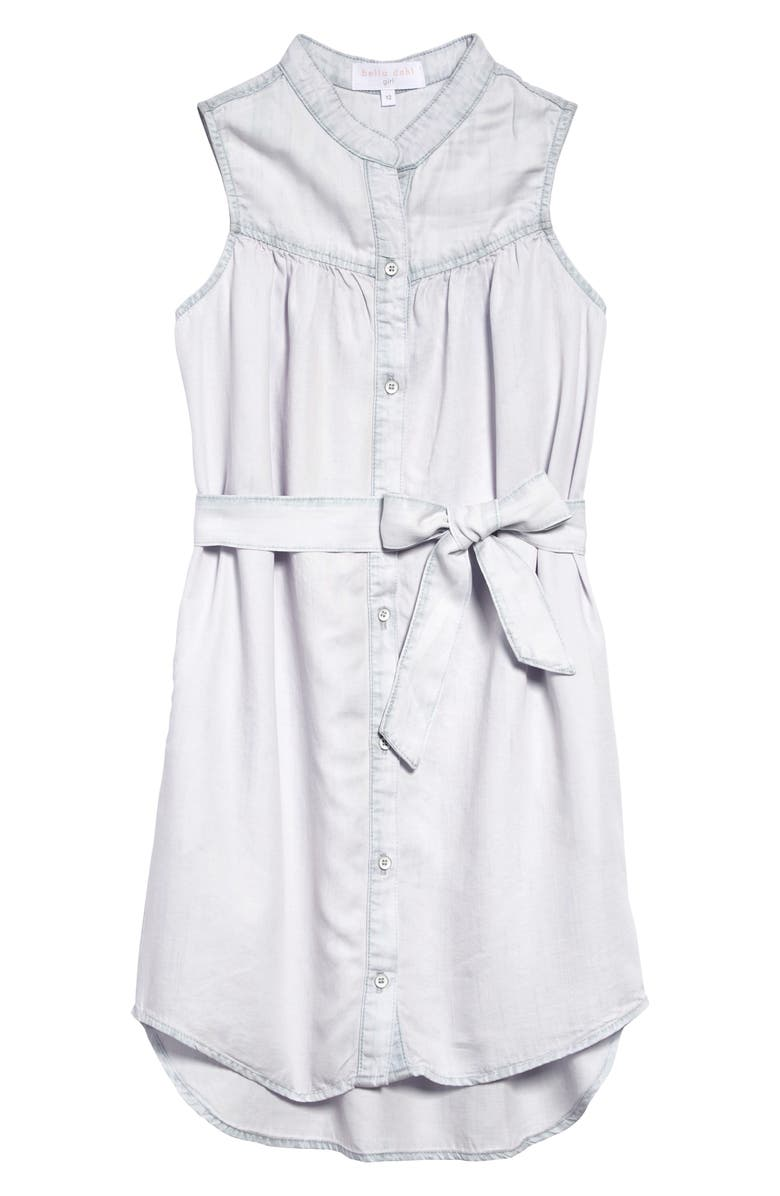 BELLA DAHL Sleeveless Shirtdress, Main, color, SWEET ROSE