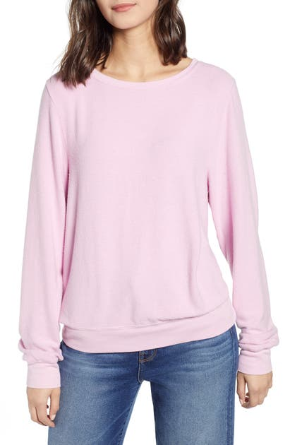 Wildfox Baggy Beach Jumper Pullover In Orchid