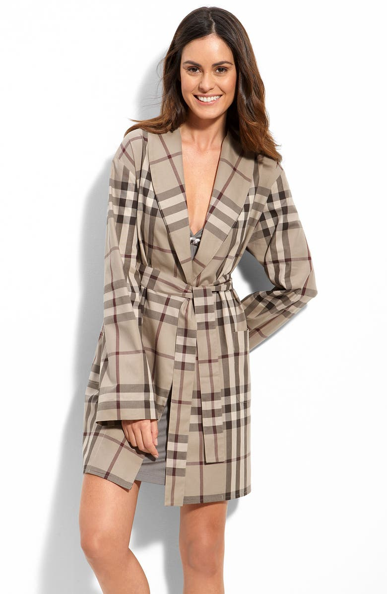Burberry Check Print Robe Nordstrom