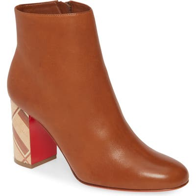 Christian Louboutin Scrunch Bootie, Brown (Nordstrom Exclusive)
