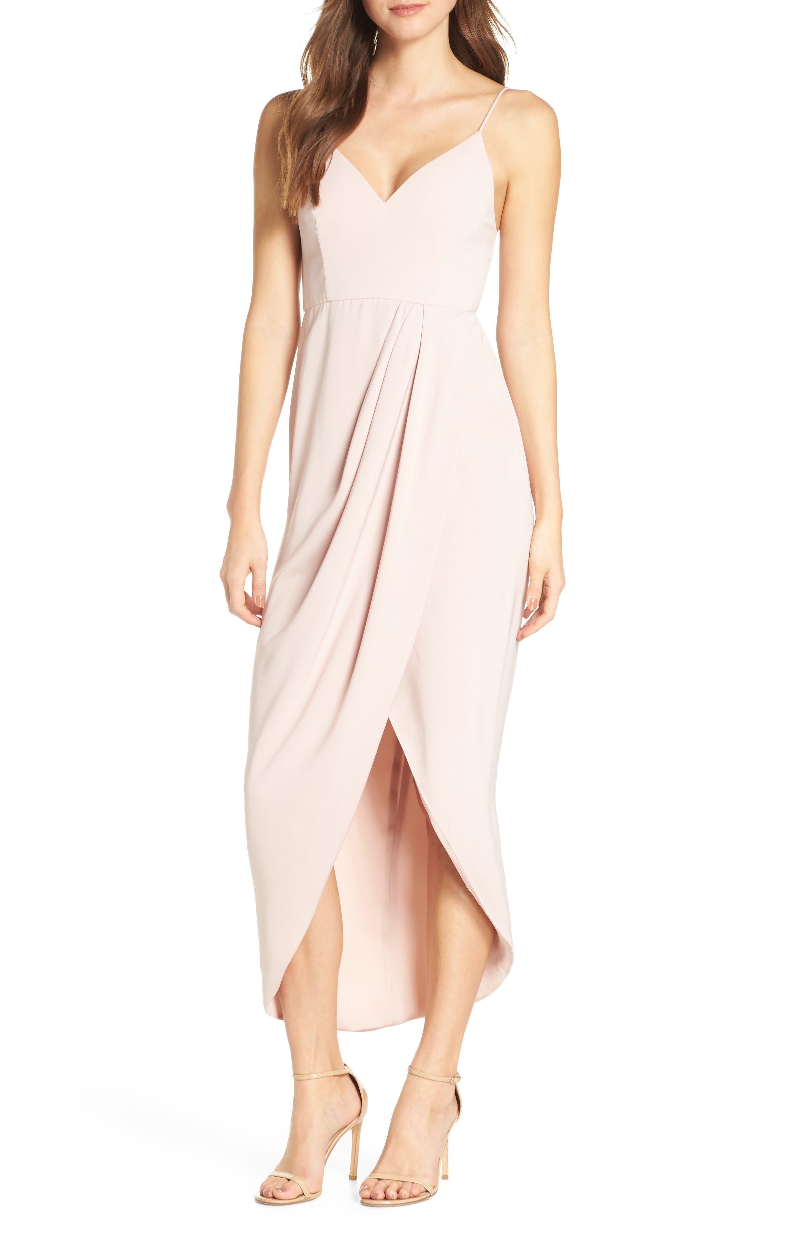 Shona Joy Tulip Hem Maxi Dress, Pink
