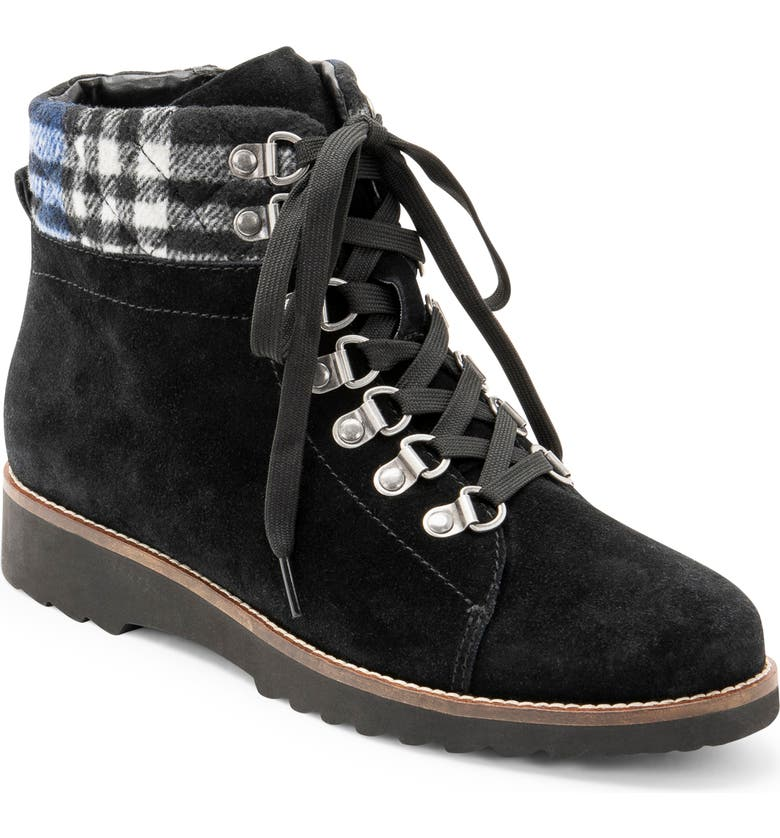 BLONDO Raina Waterproof Bootie, Main, color, BLACK SUEDE