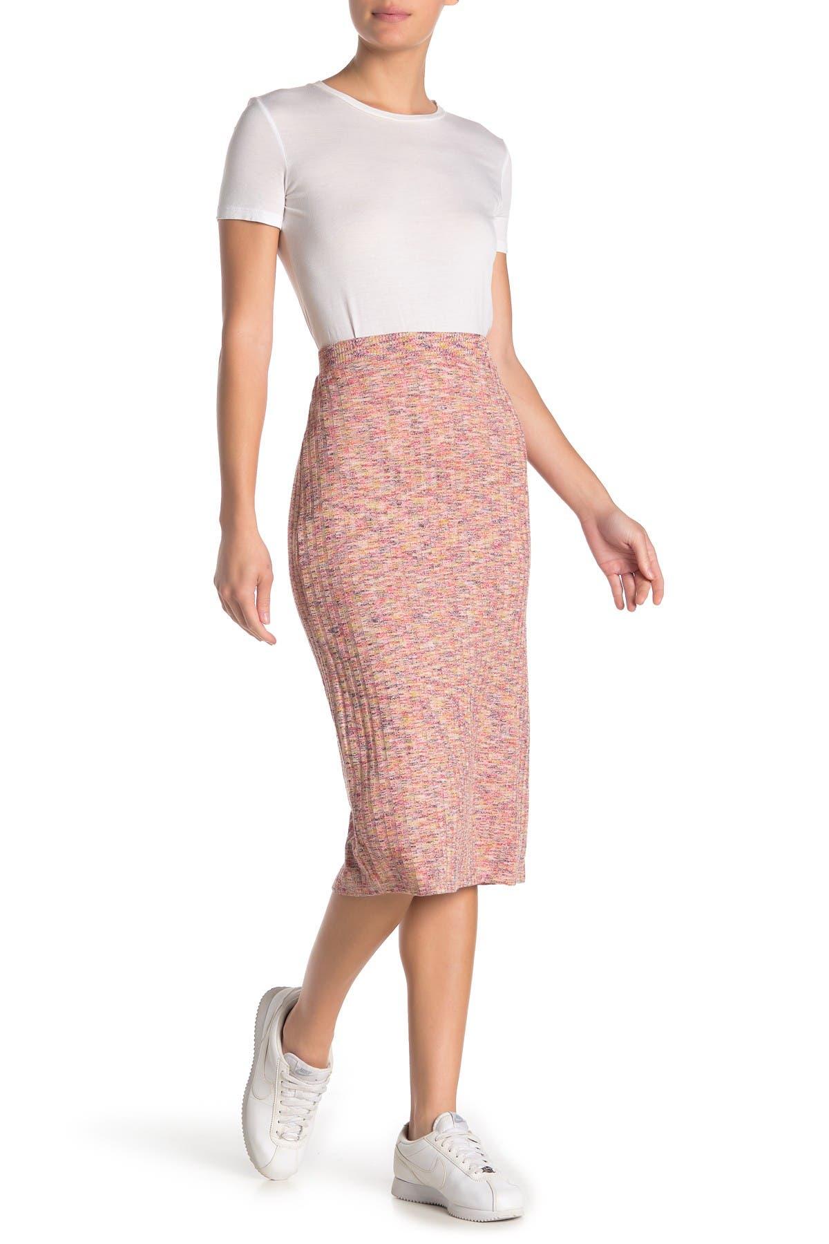 Image of 14th & Union Rib Melange Midi Skirt