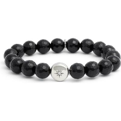 Anzie Vintage Star Black Onyx Bead Bracelet
