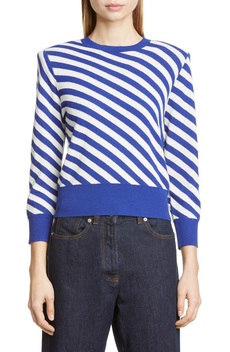 DRIES VAN NOTEN Nema Bias Stripe Sweater, Main, color, 400